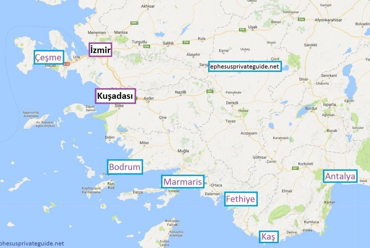 Mapa Turcji Osrodki Mapa Turcji Osrodki Strona Azja Zachodnia Azja
